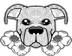 dog coloring page, dog coloring pages, free coloring page, free coloring pages for adults, sugar skull