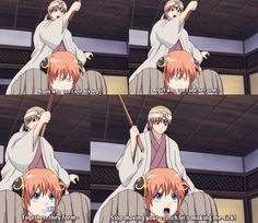 "Lol Kagura, that's not how a girl supposed to talk... on second thought, you're not even close to being ""ordinary"" :)"