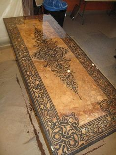 Table top-with epoxy...but would be pretty on a long, hallway ceiling.