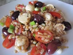 Caprese di Farro: This is a very light and healthy salad.