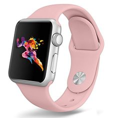 Apple Watch Band 42mm Covery Soft Silicone iWatch Sport Band for Apple Watch Series 2 Series 1 42mm All Models ML Size Vintage Rose *** See this great product.
