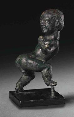 A ROMAN BRONZE COMIC DWARF | CIRCA 1ST CENTURY B.C.-1ST CENTURY A.D. | Ancient Art & Antiquities Auction | Ancient Art & Antiquities, bronze | Christie's