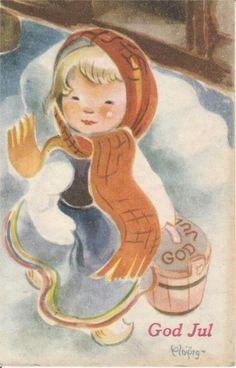 JULEKORT SIGN.ELBJØRG ØIEN 1954