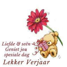 Liefde & seën, geniet jou spesiale dag. Lekker Verjaar Birthday Qoutes, Birthday Messages, Birthday Greetings, It's Your Birthday, Birthday Wishes, Birthday Cards, Happy Birthday Pictures, Afrikaans, Wisdom Quotes