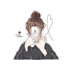 Cartoon Girl Images, Cartoon Girl Drawing, Girl Cartoon, Cartoon Art, Cute Girl Illustration, Character Illustration, Cute Couple Art, Cute Little Drawings, Cute Love Pictures