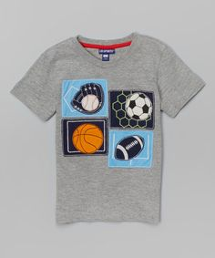 Look what I found on #zulily! Heather Gray Sports Tee - Infant, Toddler & Boys by CR Sport #zulilyfinds
