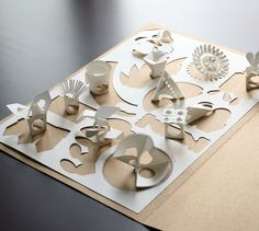 Sculptural paper rings: a flower for each month of the year #paper #jewellery #rings #thankyou