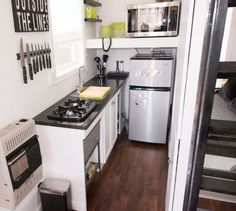 Mendy's Tiny House Kitchen - I really like the clean look of this kitchen