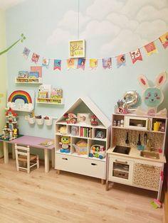 The dollhouse/ bookshelf with a drawer Das Puppenhaus / Bücherregal mit Schublade Playroom Storage, Playroom Design, Kids Storage, Playroom Decor, Kids Room Design, Kids Decor, Playroom Ideas, Storage Ideas, Baby Bedroom
