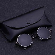 021f40af10e Black Metal Polarized Sunglasses Gothic Steampunk Sunglasses Mens Womens  Fashion Retro Vintage Round