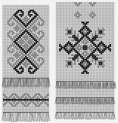 Mittens Pattern, Knit Mittens, Knitted Gloves, Square Patterns, Loom Patterns, Beading Patterns, Cross Stitch Embroidery, Embroidery Patterns, Cross Stitch Patterns