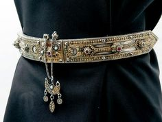Circassian silver woman's belt. Late 19th century.
