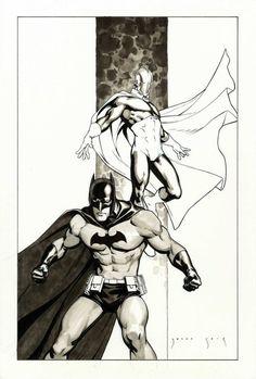 Batman & Dr Fate by Jesus Saiz
