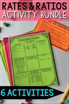 6th Grade Activities, Ratios And Proportions, Order Of Operations, Word Problems, Math Resources, Math Games, Task Cards, Math Centers, Third Grade