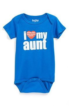 I'm buying a 100 of these so I can hand them out to everyone!! Sara Kety Baby & Kids 'I Love My Aunt' Bodysuit (Baby Boys) available at #Nordstrom