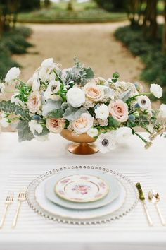 Get Unique Wedding Flower Centerpieces On A Budget That Look Professional And Beautiful - Pretty Bride Now Bridesmaid Luncheon, Bridal Luncheon, Wedding Flower Arrangements, Floral Arrangements, Wedding Table, Our Wedding, Wedding Lunch, Wedding Ideas, Southern Bridal Showers