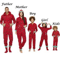 US Christmas Family Matching Pajamas Set Adult Women Kids Baby Elf Sleepwear 80f195b3f