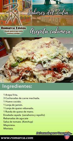 Venezuelan Food, Tasty, Yummy Food, Breakfast Menu, Weird Food, Latin Food, Food Truck, Macaroni And Cheese, Cooking Recipes