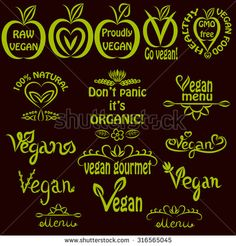 stock-vector-hand-written-set-of-vegan-logos-vegan-text-labels-for-menus-food-labels-and-food-packaging-316565045.jpg (450×470)
