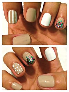 """Another """"nude nail with a twist"""" I will try."""