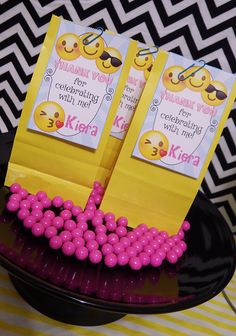 Emoji Party favor tags! Printables by Epic Parties by REVO www.epicpartiesbyrevo.etsy.com