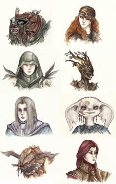 Marie De did a series of portraits of her Guild Wars 2 characters: 2abfd38426aa6c0e3edaccd051726.jpg (1500×2385)
