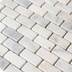 Marmor Naturstein Mosaik Brick Weiss Getrommelt