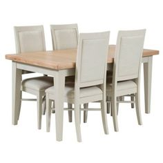 Willis Gambier Elm And Painted Coast Small Extending Dining Table Set Of DebenhamsDining TablesCoast