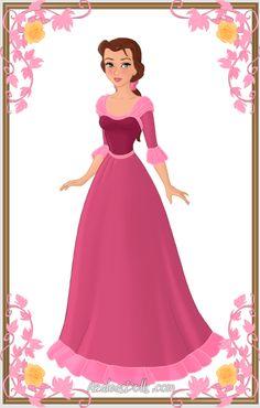 Belle { Pink Dress } by kawaiibrit.deviantart.com