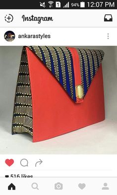Ankara Bags, African Accessories, Best Purses, Purse Styles, Denim Bag, Fabric Bags, Quilted Bag, Fabric Jewelry, Printed Bags