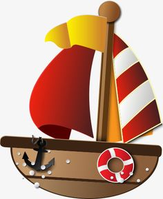 Castle Cartoon, Boat Cartoon, Nautical Baby, Nautical Theme, Boat Boots, Nautical Clipart, Navy Baby Showers, Painted Clay Pots, Hand Painted