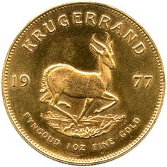"South Africa Krugerrand Gold 1 Ounce    The Krugerrand derives its name from combining the names of Paul Kruger, a well-known Boer leader and local hero who went on to become the last president of the Republic of South Africa, and the ""rand"" -- the monetary unit of South Africa."