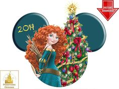 Princess Merida Brave Christmas I'm Going to Disney World T Shirt Iron On Transfer DIY Custom Decal Digital Personalized Printable