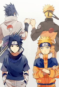Sasuke & Naruto [by http://www.pixiv.net/member_illust.php?mode=medium&illust_id=46808609]