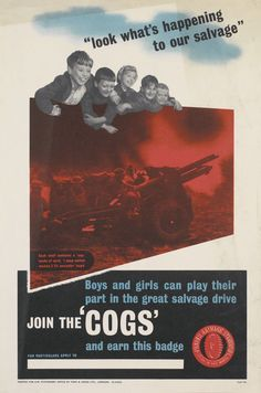 Look What's Happening To Our Salvage – Join The 'COGS' [Ministry of Supply S and R Poster No. 153;  Period: Second World War]