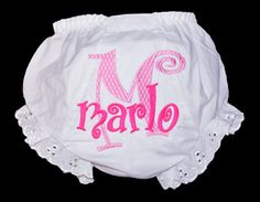 Personalized Diaper Covers Baby Bloomers with Design by ChezWhimsy, $15.50