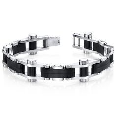 MSRP: $229.99  Our Price: $99.99  Savings: $130.00    Availability: Usually Ships in 5 Business Days    Item Number: SB4286    PRODUCT DESCRIPTION:    This stylish Stainless Steel bracelet will be a guaranteed favorite for your jewelry collection. The brushed black finish accentuates the mirror finish of the links and creates a high-end jewelry vibe. The links are constructed with a combination of black plated and highly polished Stainless Steel. The easy-to-wear folding clasp completes the…
