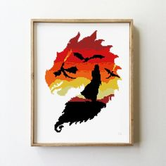 Dragon counted cross stitch pattern Game of Thrones Jon Snow wolf tv show silhouette -Cross Stitch P Counted Cross Stitch Patterns, Cross Stitch Embroidery, Stitch Games, Peler Beads, Pixel Pattern, Modern Cross Stitch Patterns, Hand Embroidery Patterns, Cross Stitching, Couture