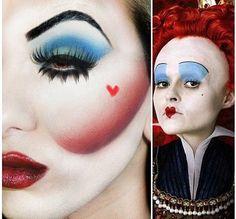 The Red Queen eye makeup - Alice in Wonderland