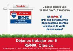Ventajas de saber cuánto vale tu casa hoy.http://remaxclasico.blogspot.com.es/2014/03/ventajas-de-saber-cuanto-vale-tu-casa.html