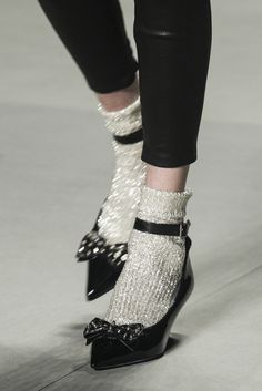 Saint Laurent Spring 2014 RTW - Runway Photos - Fashion Week - Runway, Fashion Shows and Collections - Vogue Sock Shoes, Shoe Boots, Ellie Saab, Dolce E Gabbana, Socks And Heels, Ankle Socks, Looks Cool, Mode Style, Me Too Shoes