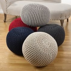 Grey Variegated Pouf Seater See More Customer Image Zoomed