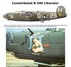 B-24H Liberator Aviones Segunda Guerra Mundial, Aviones Militares, Fotografia, Fotografía, Aviones