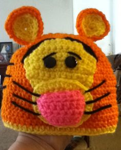 Everyone's favorite Tigger. Crocheted hat .  Infant $12.00 Child $15.00 Adult $22.00
