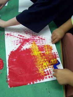 Eric Carle style paper