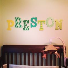 Hand painted wooden Letters for the nursery!