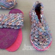 Joe's Toes - Ladies' CROCHET Crossover slipper kit - UK sizes 1 - 12