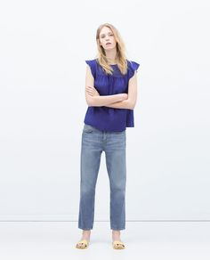 Image 1 of CROCHET TOP WITH FRILL from Zara