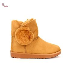 Cendriyon, Boots Camel fourrées QUENNS Chaussures Femme Taille 40 - Chaussures cendriyon (*Partner-Link)