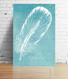 Psalm 91:4 Print Feather Digital Download  12 by OurHeartsRejoice Psalm 91 4, Psalms, Under His Wings, Scripture Wall Art, File Size, Journalling, Guest Room, Feathers, Size 12